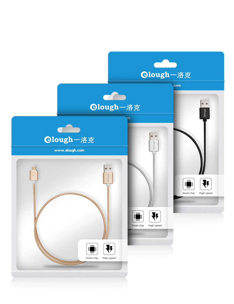 Elough E03 Magnetic Micro USB Cable Charger For Fast Charging And Magnetic Data Cable For Phones 12