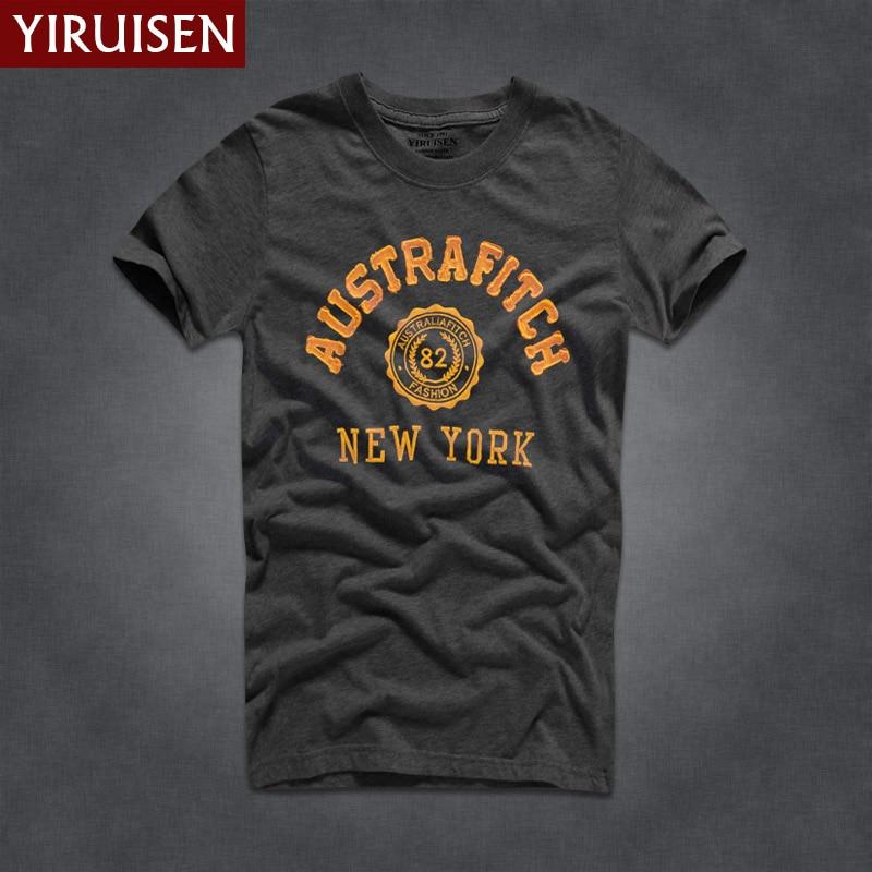 YIRUISEN Gloednieuwe York Stijl t-shirt Mannen Korte Mouw Mode 2016 - Herenkleding - Foto 4