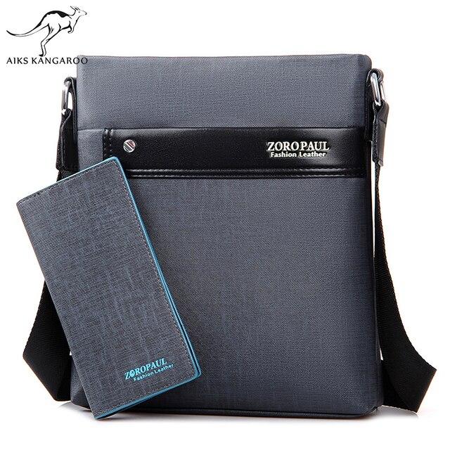 Aiks кенгуру для мужчин Мода PU кожа Crossbady сумка бизнес мужской дизайнер сумки Высокое качество на плечо