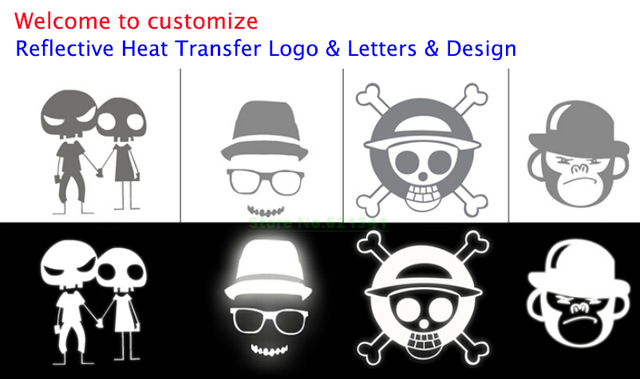 welcome custom made customize high reflective lettering vinyl film heat transfer logo patch letters design