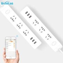 D'origine BroadLink MP2 Smart Wifi Puissance Bande WiFi Prise de Contrôle À Distance 3 Sortie avec 3 USB Rapide De Charge 2.1A pour iOS Android