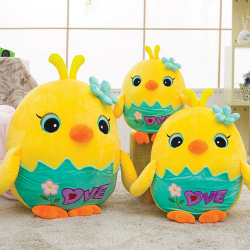 Fancytrader New Pop Broken Eggs Chicken Plush Toy Lovely Stuffed Animal Yellow Chick Doll Kids Toys stuffed animal 44 cm plush standing cow toy simulation dairy cattle doll great gift w501