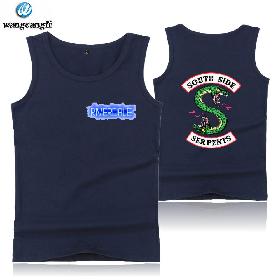 BTS American TV Riverdale   tank     tops   men summer vest South Side Serpents cotton   tank     top   fashion fitness sleeveless shirt xxxxxl