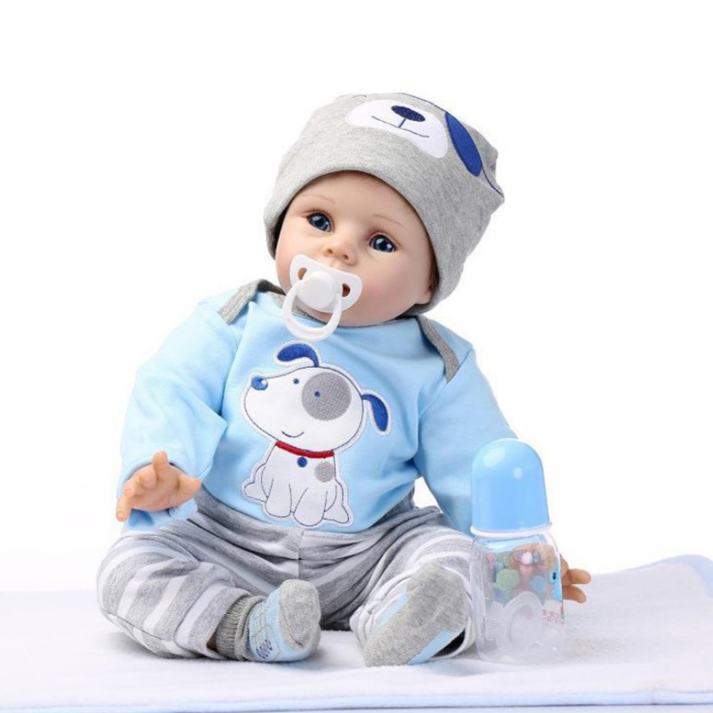 Toddler 55cm Cute Handmade Lifelike Silicone Vinyl Reborn Baby Doll kids Playmate Gift For Girls boys Baby Soft Doll Reborn Toys adora toddler doll soft silicone reborn baby doll cute 20 inch 52cm baby reborn for kids birthday giftbaby reborn