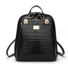 2017 новый рюкзак сумка отдых студенток крокодил зерна рюкзак кожа pu рюкзак рюкзак милая леди