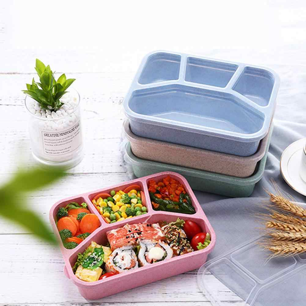 Portable 4 Grids Lunch Box Bento Box Food Container Picnic Lunchbox Food Storage Container Tableware Kitchen Gadegets