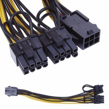 PCI-E 6-Pin Female To Dual 8-Pin(6+ 2 Pin) папа Видеокарта адаптер питания Кабельный разъем