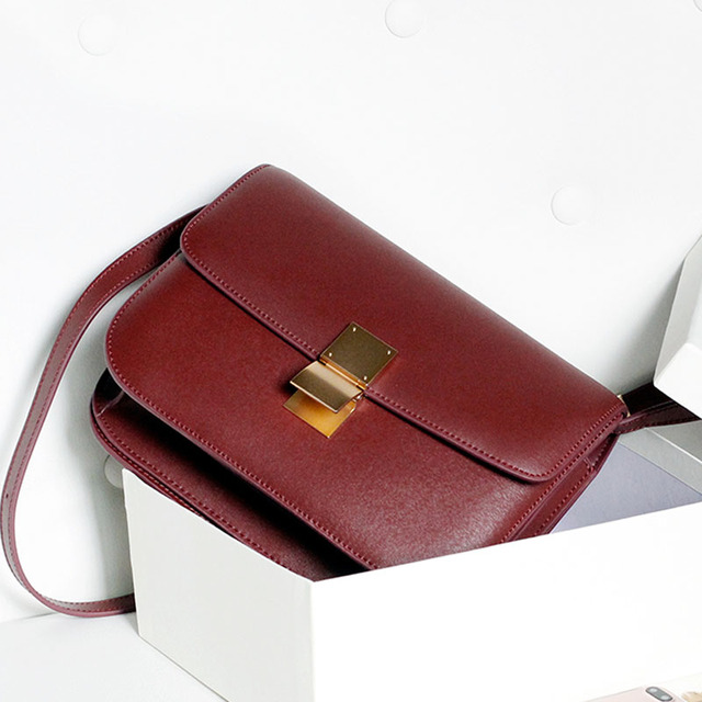 Women bag TOP quality BOX Genuine leather brand designer crossbody bag Classic women messenger bags