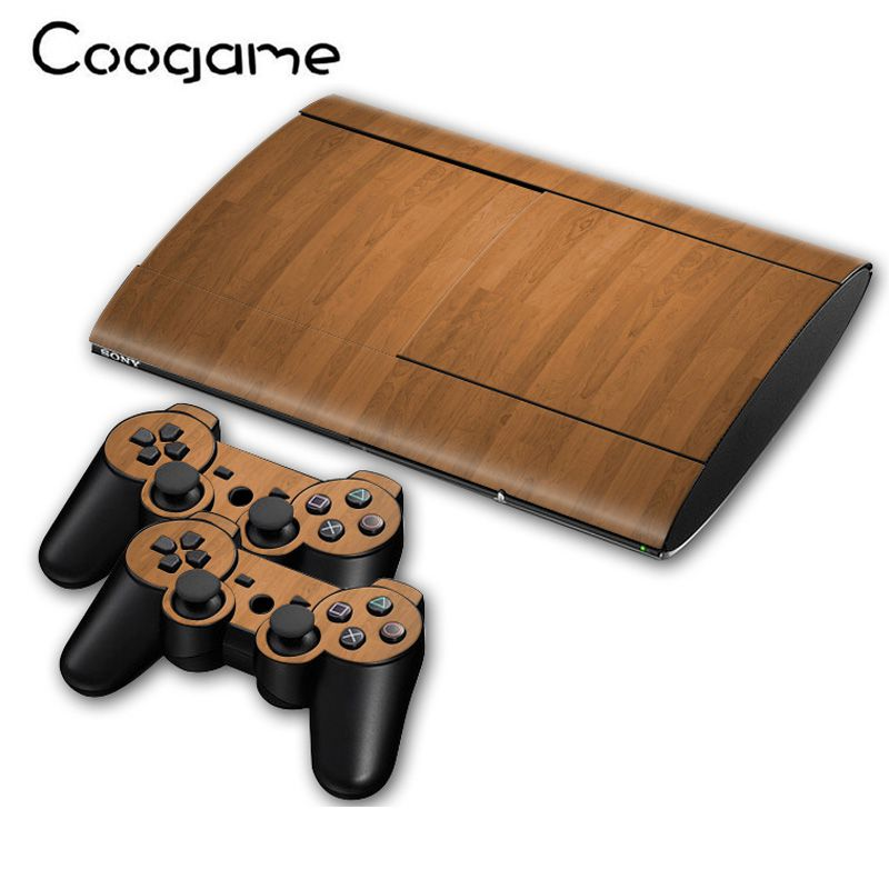 5 Styles Wood Skins For Sony Playsation 3 Slim 4000 Console Funny Cover Sticker For PS3 Slim4000 Decal Games