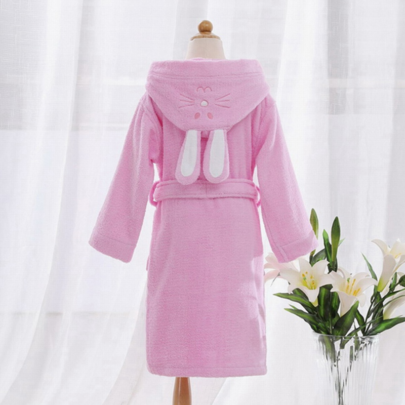 b483765b02 Children Hooded Bathrobe Towel Kids Boys Girls Cotton Lovely Robes Dressing  Gown Kids Homewear Sleepwear with Belts-in Robes from Mother   Kids on ...