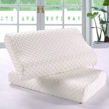 Подушка из пены памяти Ортопедическая подушка для шеи волокно медленный отскок белая мягкая подушка 30×50/35×55/40×60 см Массаж Подушка