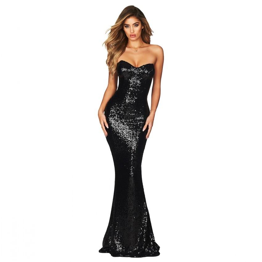 1ee4b4c0d94 Zmvkgsoa черный серый блесток длинное платье Сексуальная спинки Ночной Клуб  длина паркета с открытыми плечами макси платья Vestidos Y610578