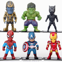 6pcs The Avengers 3 Infinity War Thanos Hulk Iron Man Spiderman POP PVC Action Figures Superheroes Figurines Dolls Set Kids Toys avengers infinity war iron man captain america spiderman hulk black panther thanos pvc figures toys 6pcs set