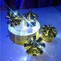 10 Pçs/lote CONDUZIU a luz do Flash colorido Champanhe Coroa de fogos de Artifício Frios Substituição Luminosa Coroa Cabeça CONDUZIU a Lâmpada de Mesa Vinho Rolha