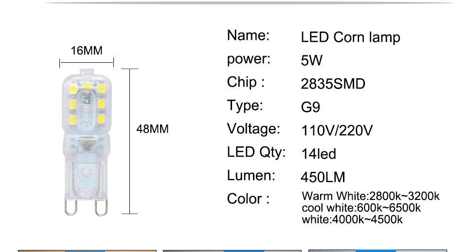 G9 LED Bulbs 220V 110V Dimmable (4)