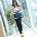 5 Colors Women Warm Leggings Korean Stepped Foot Pantyhose Thicken Nylon Bright Female Slim Plus Velvet Autumn Winter Free Size