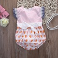 Bebé Bodysuits Corpo Estampado Floral Bebes Recém-nascidos Roupas Bodysuit Do Bebê Do Algodão Do Bebê da Roupa Do Bebê
