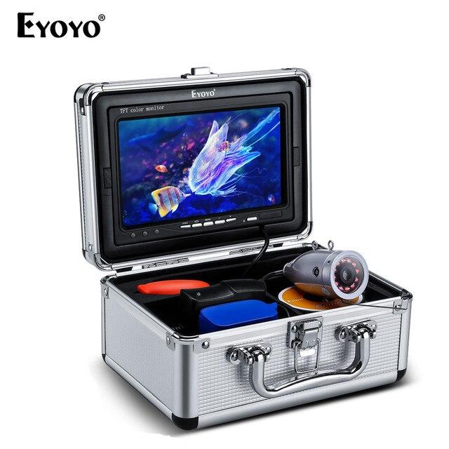 "Eyoyo EF07PLUS 7 ""Ips ضوء الشمس للقراءة TFT LCD شاشة 30 متر مكتشف الأسماك تحت الماء الصيد كاميرا 12 قطع الأشعة تحت الحمراء IR LED"