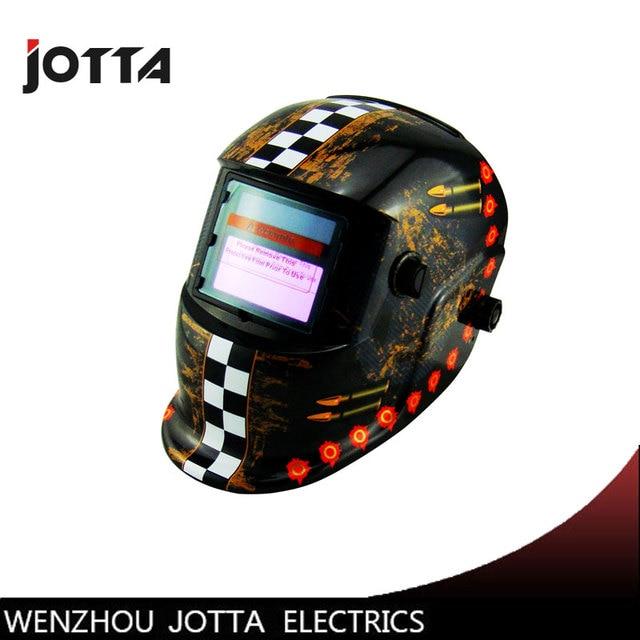 0379ef12ea0db Auto escurecimento Solar máscara de solda capacete cap soldador solda lente  olhos