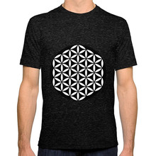 T Shirt Hot Topic Sleeve MenS Crew Neck Flower Of Life Yin Yang Short Compression Shirts