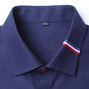 Image 5 - MIACAWOR Frühling Lange Sleeve Kleid Shirts Männer Mode Oxford Camisa Masculina Slim Fit Casual Shirt Weiß C274