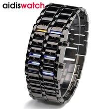 Étanche 2016 Nouveau Mode Hommes Femmes Lava Électronique deuxième génération Binaire LED Bracelet Montre-Bracelet Réveil Heures