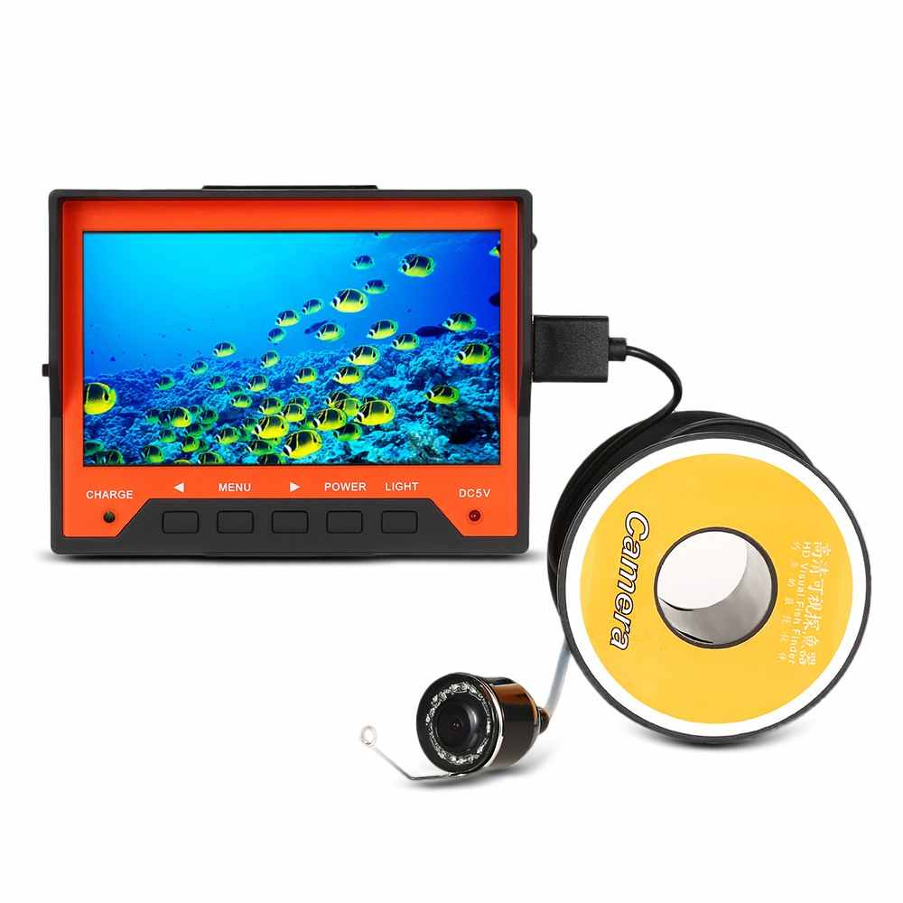 "Lixada Underwater Ice Fishing Camera 15M 1000TVL 4.3"" Fish Finder with Wrist Strap 8 Infrared LED Night Vision Camera Pesca"