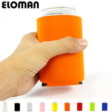 2PCS party beer can cooler ELOMAN wedding favor decoration custum solid color koozies baby shower party drink neoprene beer cozy(China)