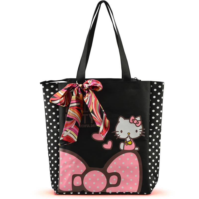 US $4.99 |2015 Hot sale Women's Shoulder bag Hello kitty Cartoon Handbag Waterproof Canvas Shopping bag Girls handbag Women Casual Bag-in Shoulder Bags from Luggage Bags on AliExpress