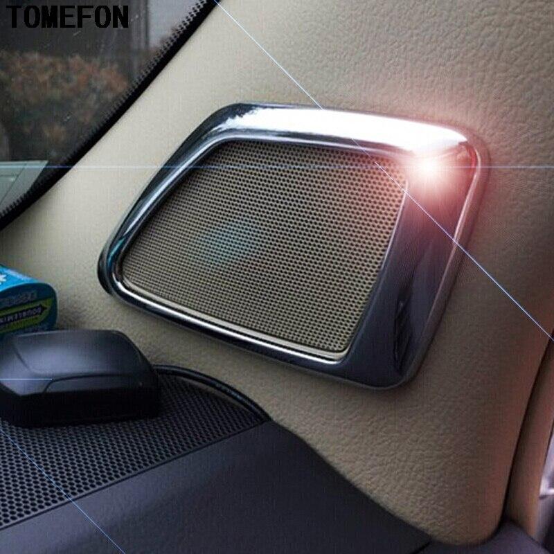 For Toyota Land Cruiser Prado FJ150 2014 2015 ABS Matte Wood Paint Front Inner Loudspeaker Frame