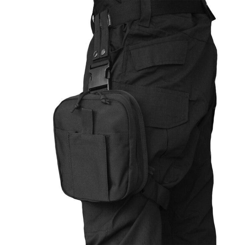 TAK YIYING Tactical Leg Drop Medical Bag Accessory Belt Pack Bags First Aid Hip Bum Tactics Military Men Nylon Waist Bag