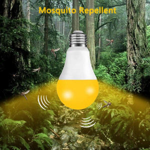 Image 5 - IP44 Led Sensor Lamp E27 10W 15W 220V 110V B22 Schemeringsdimmer Gloeilamp Dag nachtlampje Sensor Lamp Voor Thuis 2000K Anti Muggen
