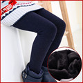 Brand New 2016 Otoño Invierno Polainas de Las Muchachas Sólido Algodón, Además de Terciopelo Pantalones Flacos Delgados Pantalones de Los Cabritos Niños de la Manera Caliente