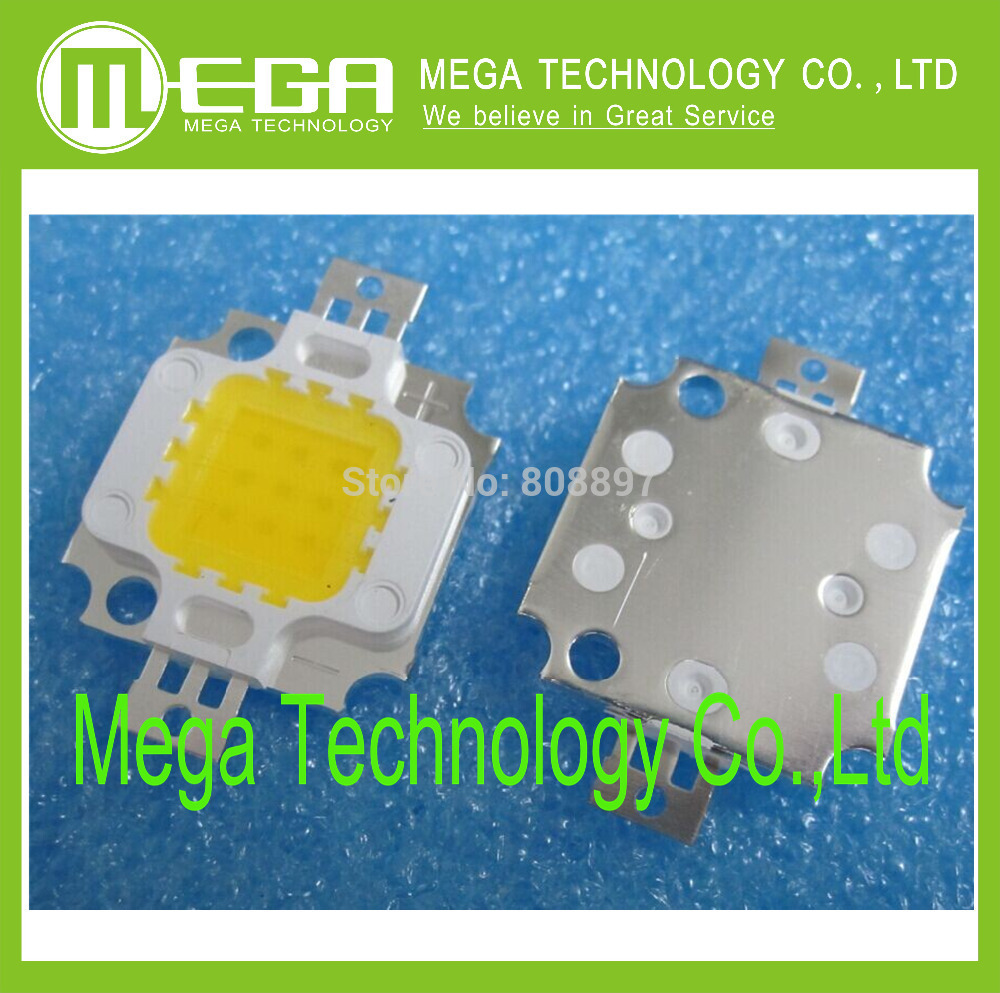 10pcs 10w Led Integrated High Power Led Beads White/warm White 900ma 9.0-12.0v 900-1000lm 24*40mil Electronic Components & Supplies
