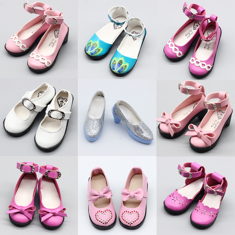 1pair 7.8cm 1/3 Dolls PU Leather Shoes For 16inch 60cm BJD SD Dolls Fashion Shoes Free Shipping