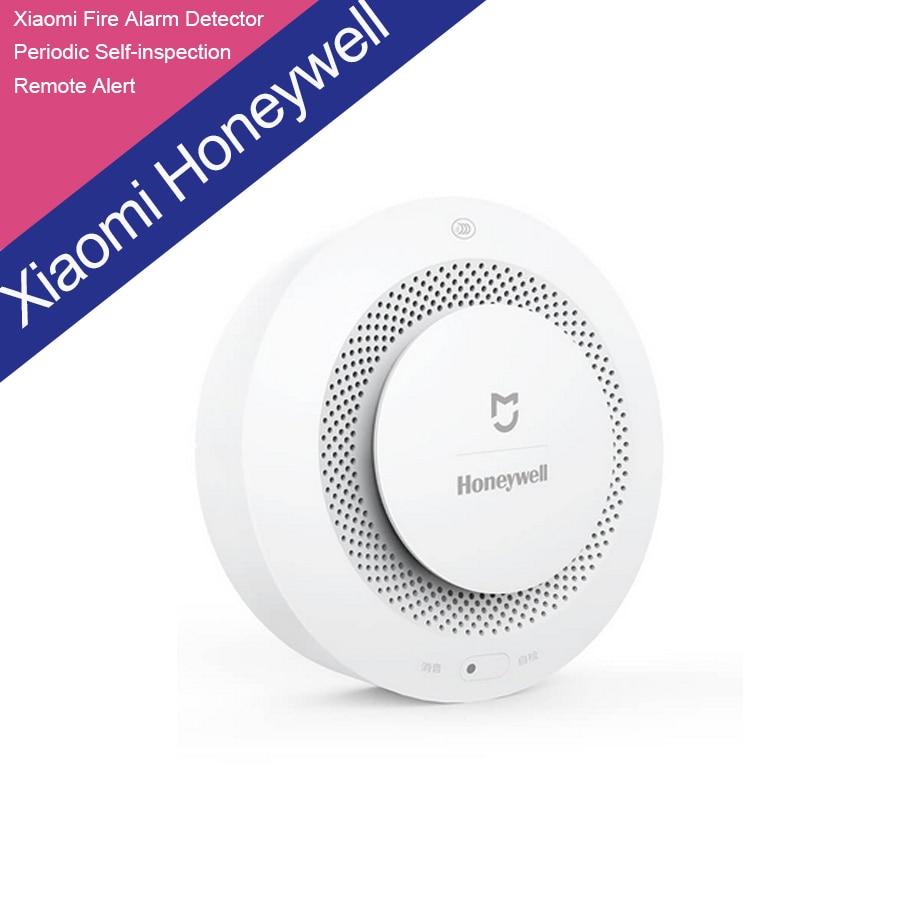 ФОТО Xiaomi Mijia Honeywell Fire Alarm Detector Audible And Visual Alarm Work With Gateway Remote Notication Mihome APP Control