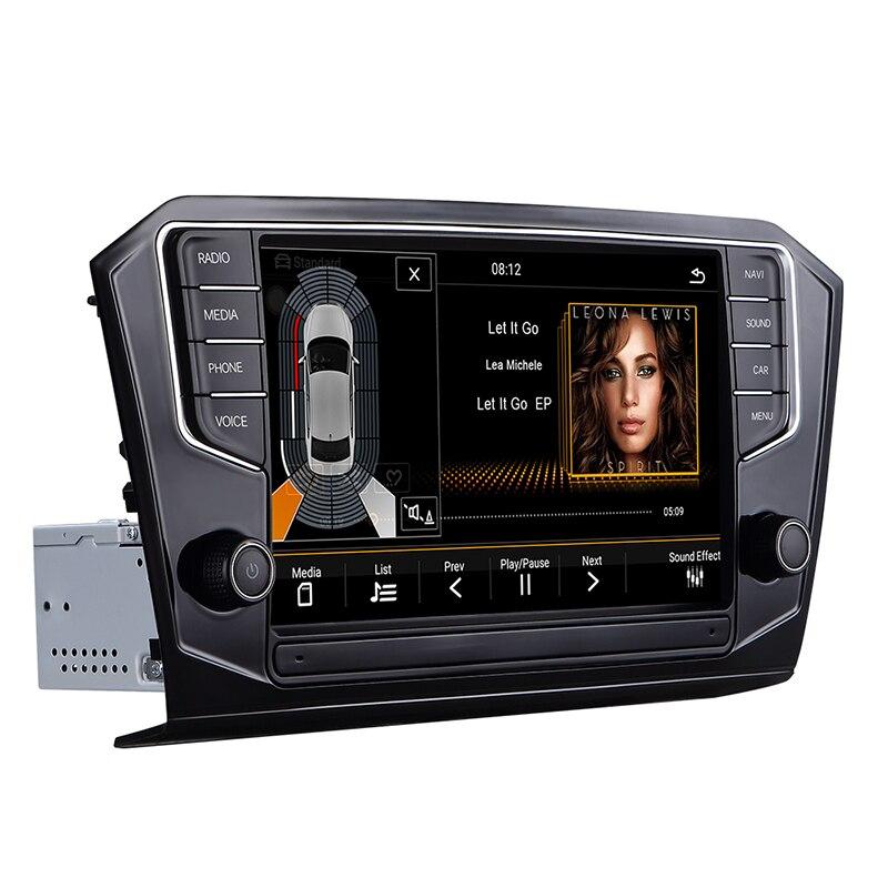 Android auto voiture gps radio navigation pour volkswagen b8 construit dans Canbus, lecteur DVD externe, support swc, lien de téléphone