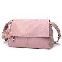 Chao Korean ladies wild leather zipper shoulder Messenger bag Simple fashionable atmospheric dumplings handbag