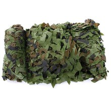 5M x 1.5M Outdoor Sun Shelter Net CAMOUFLAGE Netting Hunting Woodland Jungle Tarp Car-covers Tent  Jungle sun Shelter