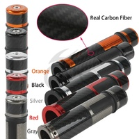 Motorcycle New Red 7/8 Carbon Fiber Motorbike Handlebar Hand Grips For YAMAHA R1 R6 YZF1000 YZF600