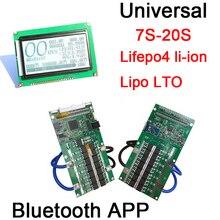 Smart Display 7S ~ 20S ANT Lifepo4 li-ion Lipo LTO Batterie Schutz Bord BMS 300A 100A 80A 40A bluetooth APP 10S 13S 14S 16S