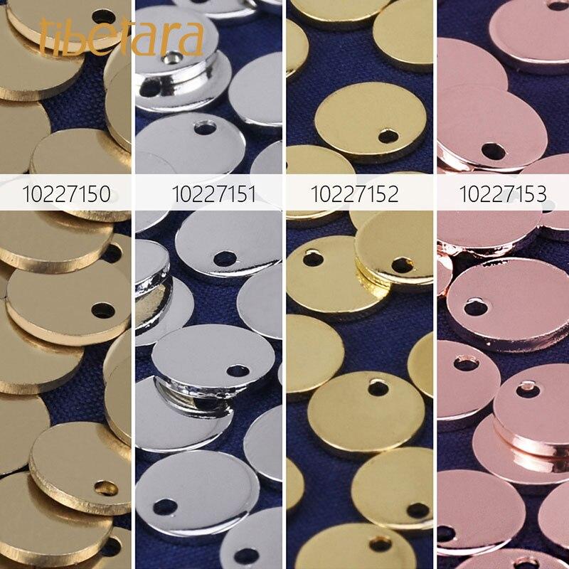 "1//2/"" Brass Round Stamping Blanks with Hole diy bracelet charm 10pcs 102272"