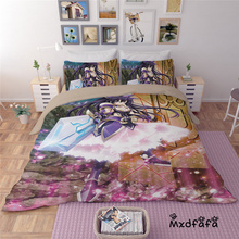 Mxdfafa Anime DATE A LIVE  Duvet Cover Set bedding set Luxury Comforter Bedding Sets Include 1 and 2 pillowcase