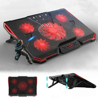 Game Notebook Cooler Cooling Pad Silent LED Fans USB 2.0 Adjustable Notebook Stand Computer Heat sink Stand For PC under 17 inch