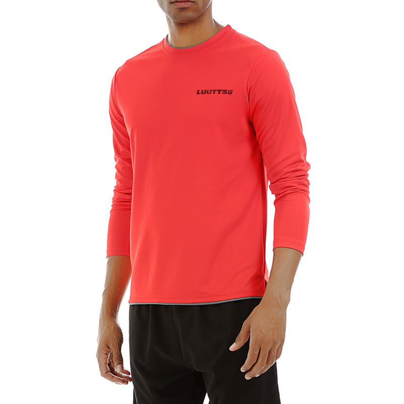 4 Colors Solid Men 39 s Gym Shirt Loose Dry Fit Running Shirt Long Sleeve Blouse Fitness Workout Shirt Rashgard Sport Sportswear in Running T Shirts from Sports amp Entertainment