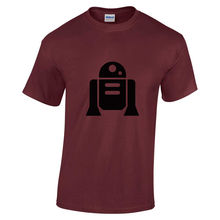 Adults New Star wars RT-D2 Black print short sleeve Burgundy Small t-shirt\Top\T Print Tee Short Sleeve Clothing free shipping струна d2 для арфы bow brand lever burgundy