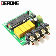 4 Channel Auto Audio signal selection board Selector Preamplifier signal input selection board free shipping