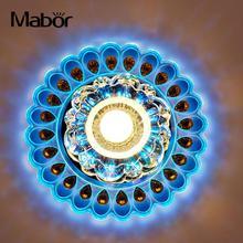 Современный хрустальный светодиодный светильник ing гостиная Павлин Потолочная люстра лампа