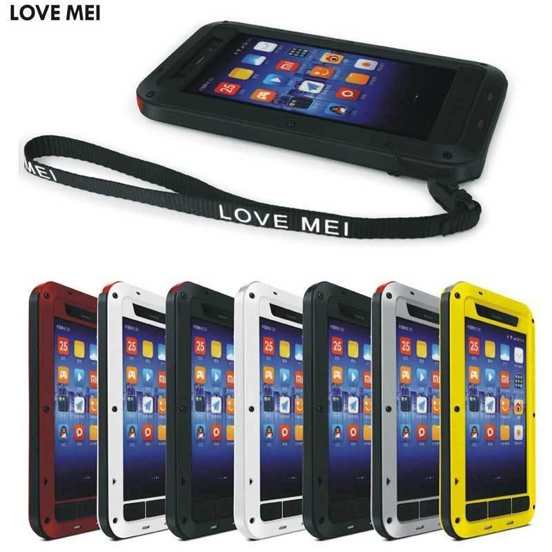 bilder für Liebe Mei Xiaomi mi3 Stoßfest Gehärtetem Gorilla-glas Metallkasten-abdeckung Für xiaomi 3 telefonkasten