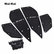 цена на MAIKAI Motorcycle Modified parts mats CNC footrest footpads Aluminum alloy pedal plate For Yamaha XMAX X-MAX 250 300 2017-2018